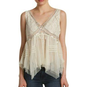 FREE PEOPLE On The Town Tank in Ivory - M,L